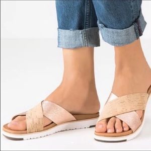 Ugg Kari rose Gold Sandals slides 8
